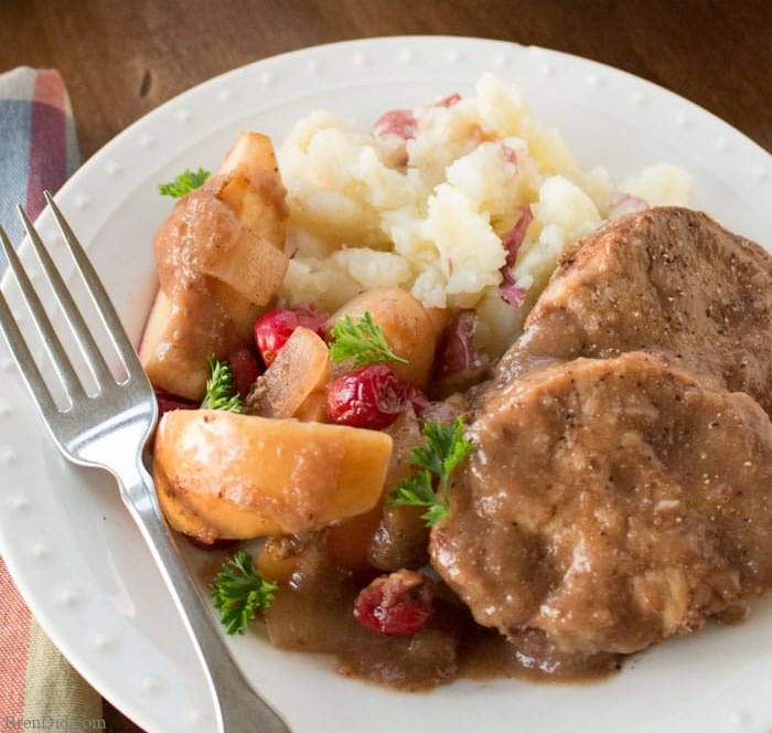 Pork with Cranberries & Apples