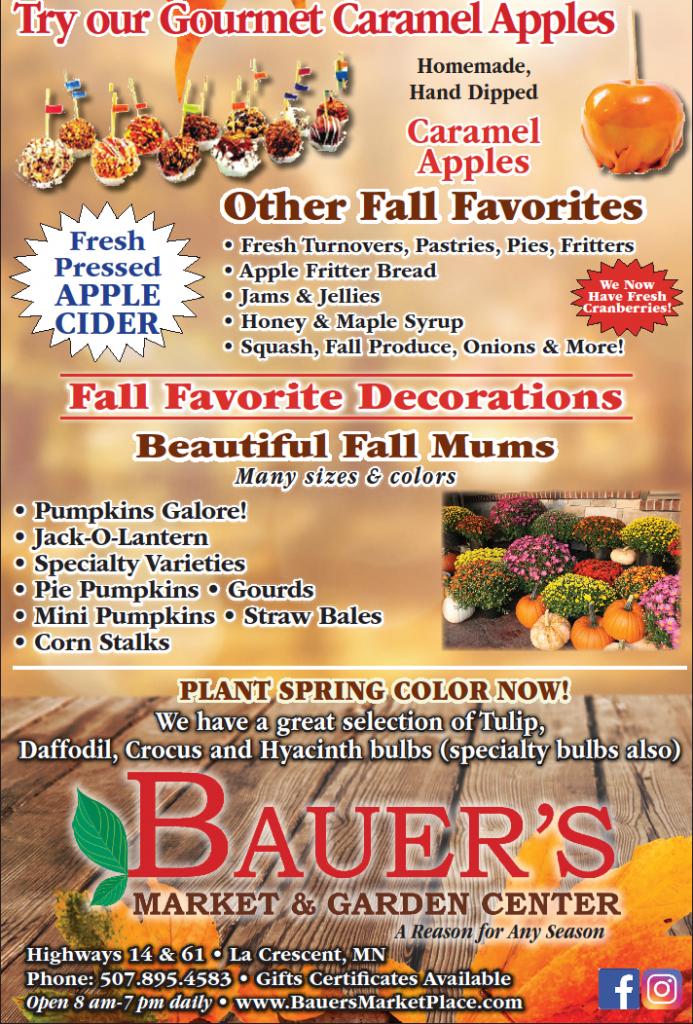 Weekend Forecast at Bauer's Market & Garden Center | October 5, 2019